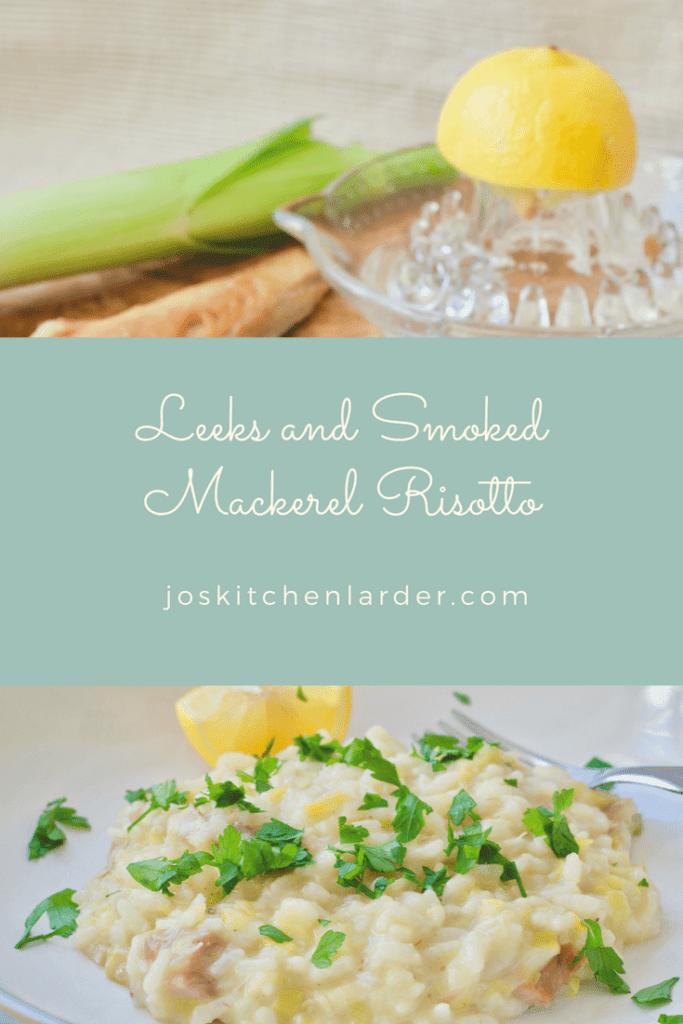 Leeks and Smoked Mackerel Risotto