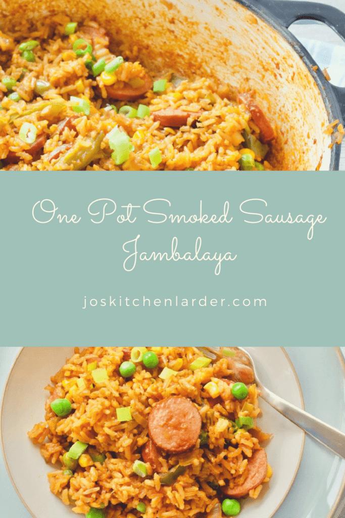 One Pot Smoked Sausage Jambalaya