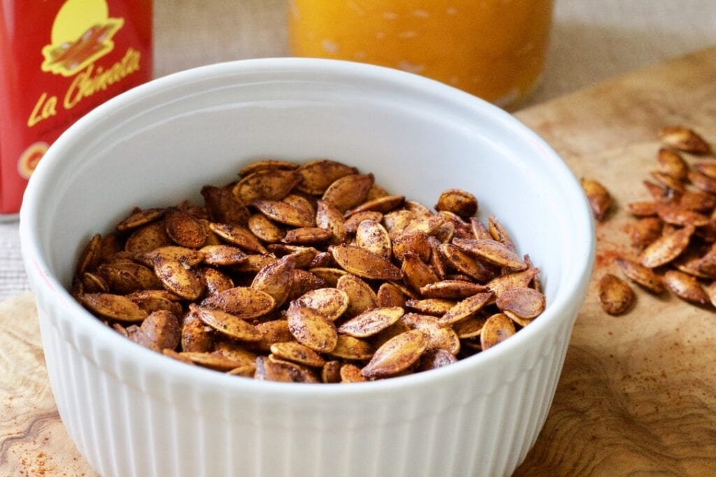 Smoked Paprika Roasted Pumpkin Seeds