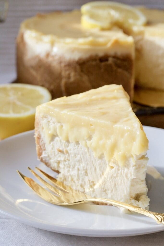 Baked Lemon Curd Cheesecake