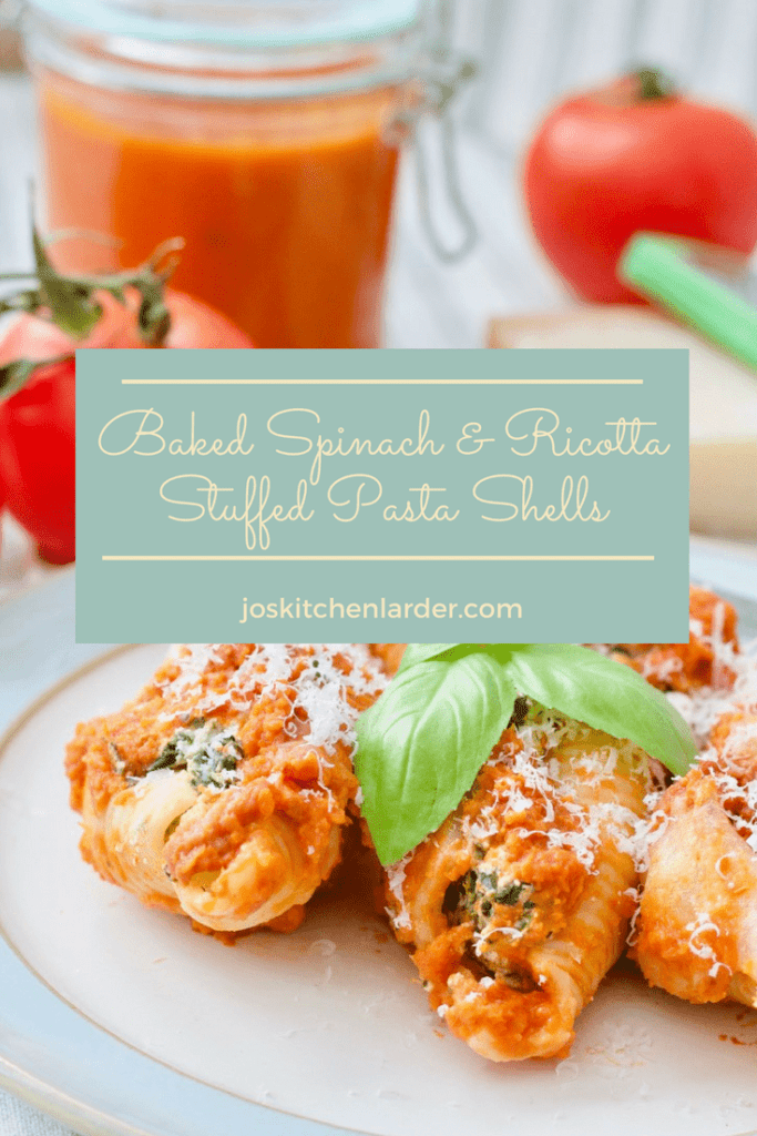 Baked Spinach & Ricotta Stuffed Pasta Shells