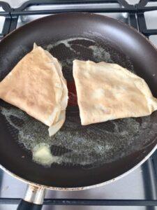 Pancakes (Crêpes) with Mascarpone & Cranberry Compote - pancakes filled with mascarpone fried in butter