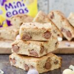White Chocolate Blondies with Mini Eggs