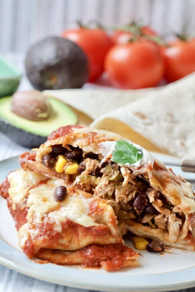 Roast Chicken Leftovers & Black Bean Enchiladas