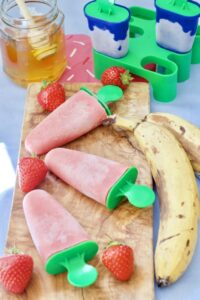 Strawberry & Banana Yogurt Ice Lollies