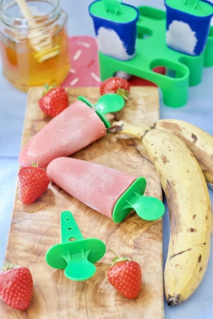 Strawberry & Banana Yogurt Ice Lollies