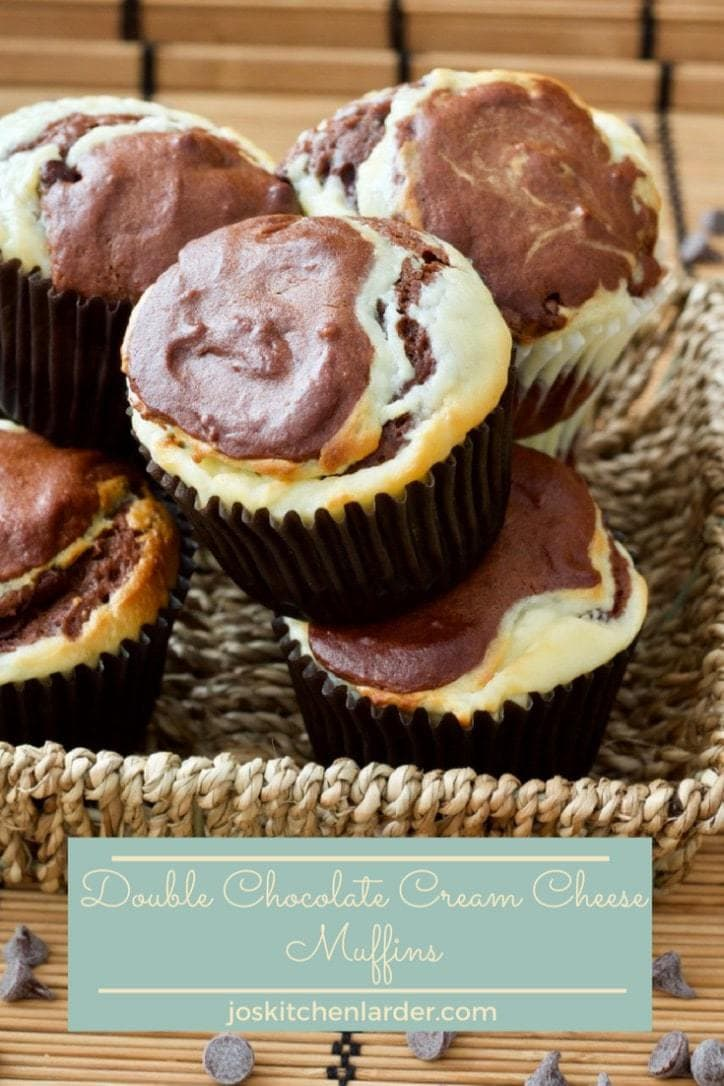 Chocolate rich yet light in texture these Double Chocolate Cream Cheese Muffins are super delectable & extremely tempting. Perfect chocolate treat anytime! #chocolatemuffins #chocolate #creamcheese