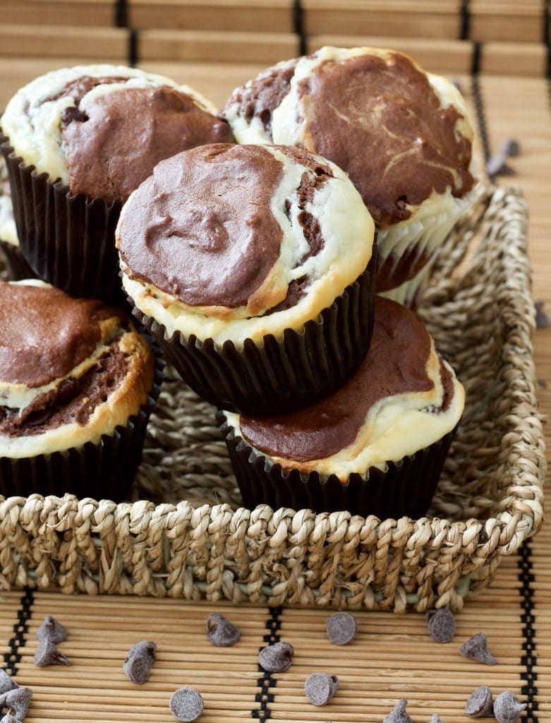 Double Chocolate Cream Cheese Muffins