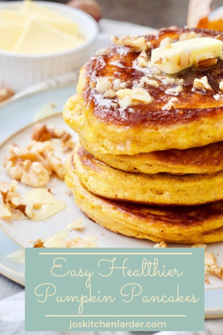 These Easy Healthier Pumpkin Pancakes are perfect weekend breakfast treat! Prepared lovingly with few healthy swaps for a wholesome feast! All you need to do is choose your toppings! #pumpkin #pancakes #healthy #breakfast