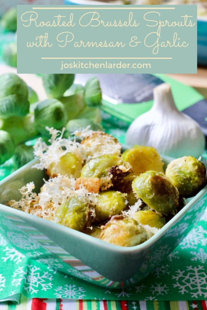 Roasted Brussels Sprouts with Parmesan & Garlic are a game changer. If you are a sprouts fan already you will love this roasted, garlicky, cheesy version for sure. Perfect Christmas or Thanksgiving veggie side dish. #roastedbrusselssprouts #brusselssprouts #sidedish #christmas #thanksgiving