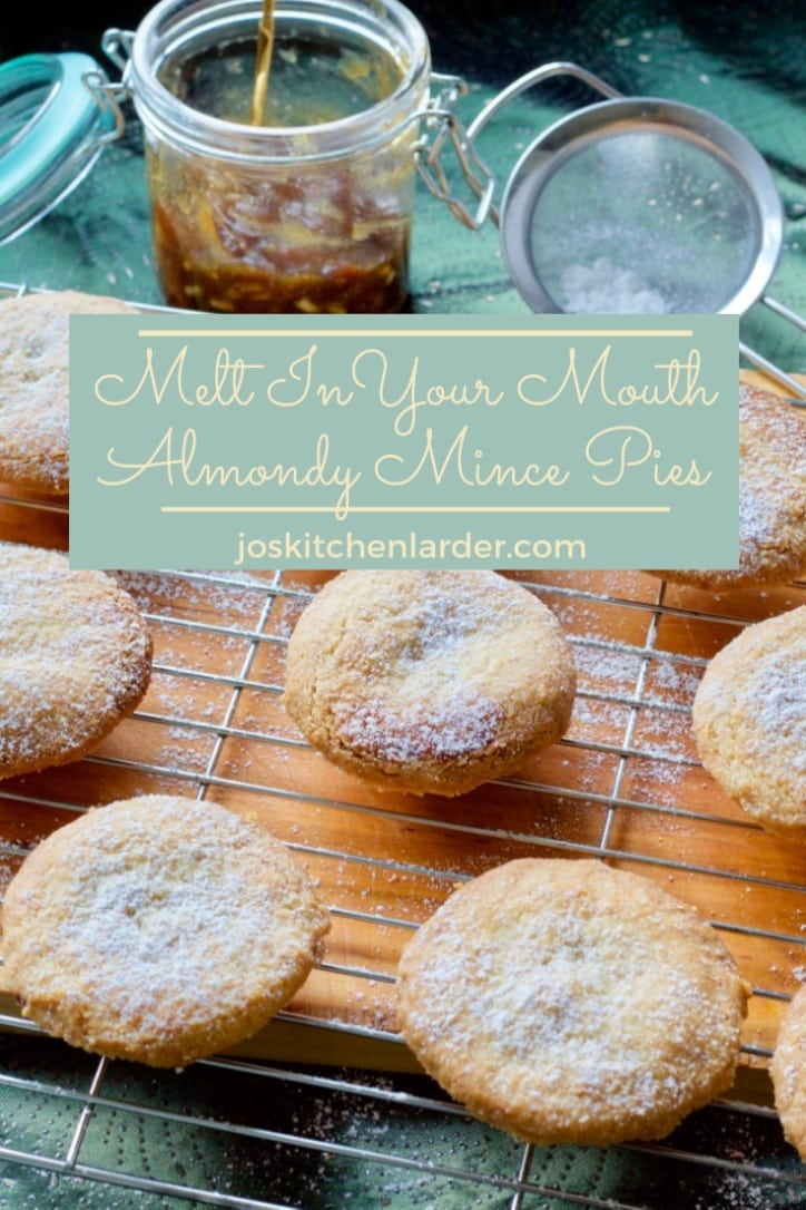 These Melt In Your Mouth Almondy Mince Pies are just what they says on the tin! Almond shortcrust pastry makes them simply irresistible and even more festive! They are so easy to make too! #mincepies #almonds #almondpastry #christmasrecipes #christmasbaking