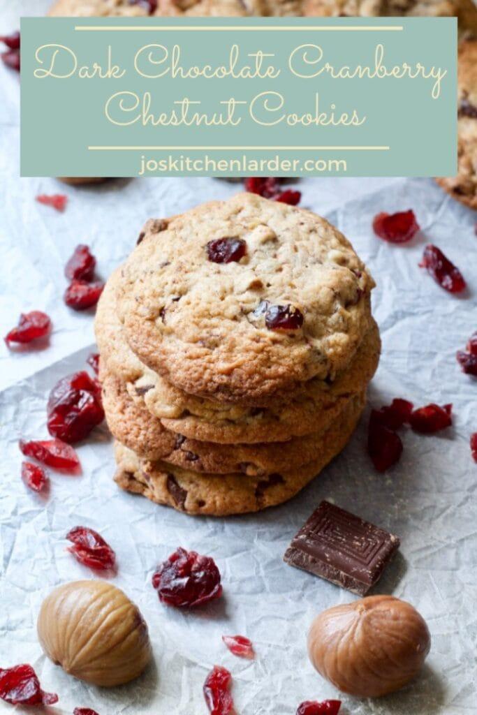 Dark Chocolate Cranberry Chestnut Cookies