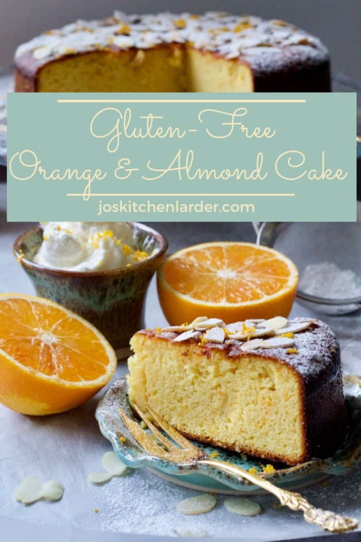 This Gluten-Free Orange and Almond Cake is simply sensational! Moist, nutty and with strong orange flavour this cake is also flourless and dairy & oil free. Serve simply with coffee or with Orange Whipped Cream as an indulgent dessert. #orangeandalmondcake #glutenfree #dairyfree #flourless #dessert #valentinesday