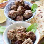 Easy Lamb Kofta Meatballs in serving bowls