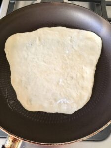 Easy Flatbread (No Yeast) in the frying pan