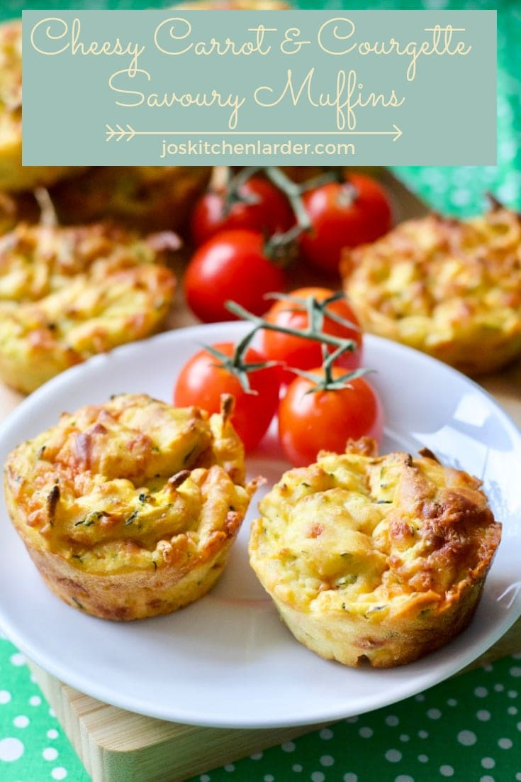 Cheesy Carrot & Courgette Savoury Muffins