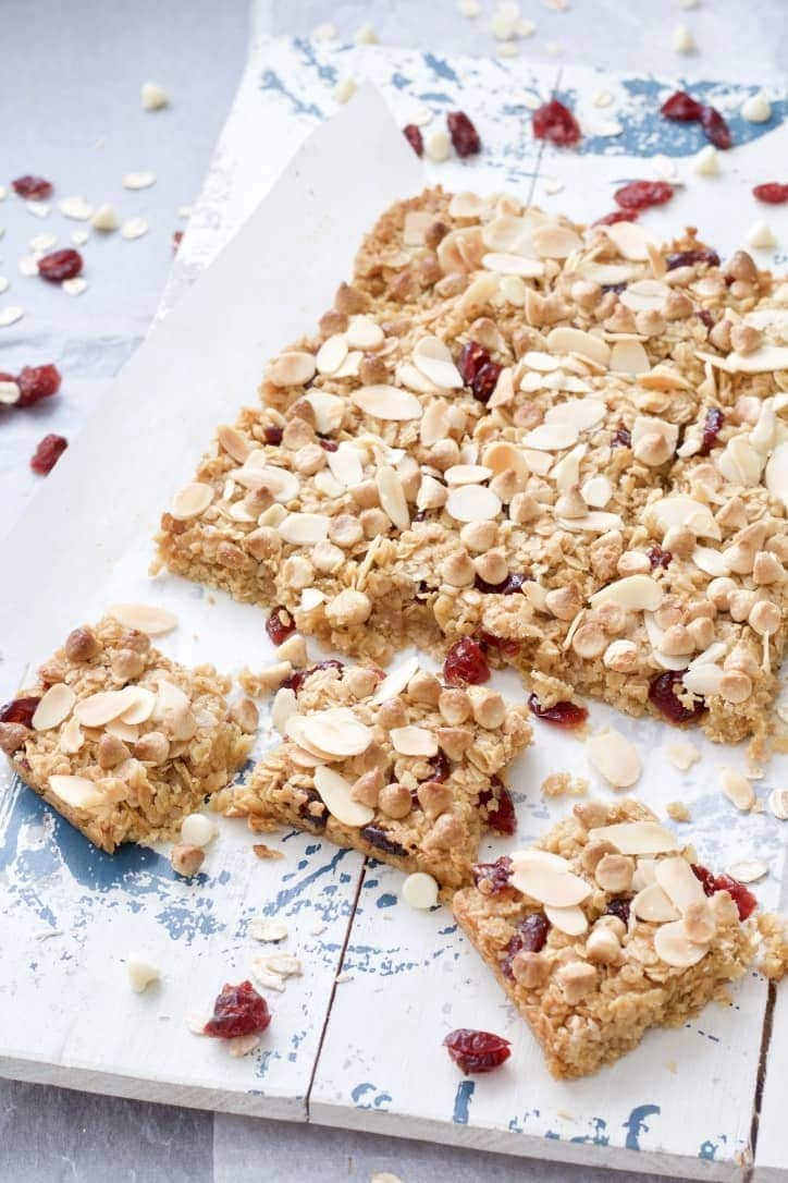 Chewy Cranberry Flapjacks (Granola Bars)
