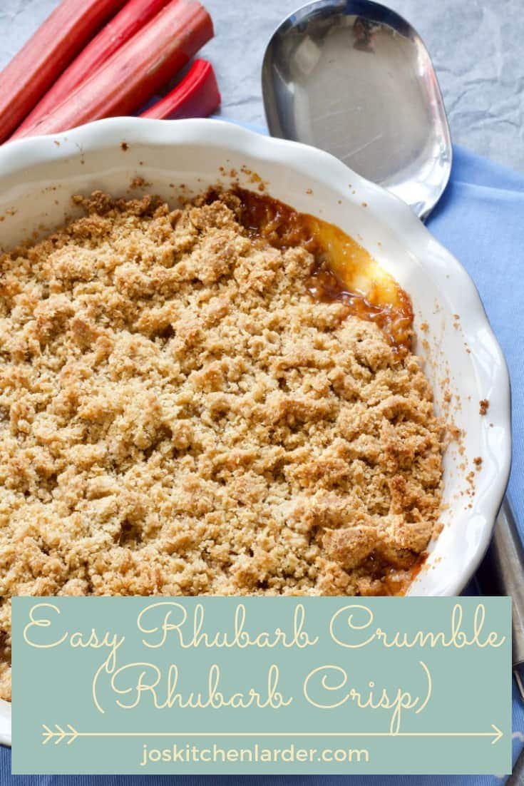 Delicious & easy Rhubarb Crumble (Rhubarb Crisp) makes most divine seasonal dessert. Sweet, tangy and combining different textures it\'s perfect follow-on to any meal.  Best served with your choice of cream, ice cream or custard. #rhubarbrecipes #rhubarbcrumble #rhubarbcrisp #dessert