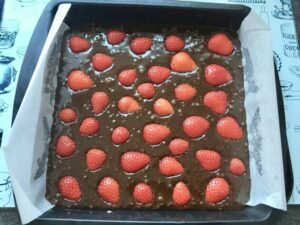 Brownies ready for the oven.